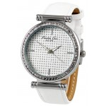 Kenneth Cole New York KCW2004 Women's Analog Watch White Leather Strap