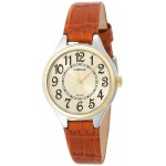 Carriage by Timex C3C401 Women's Two-Tone Round Analog Watch Brown Leather Strap