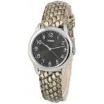 Timex TWH2Z8510 Women's Analog Round Watch Python Patterned Leather Strap